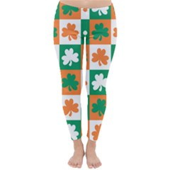 Ireland Leaf Vegetables Green Orange White Classic Winter Leggings