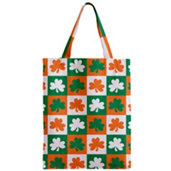 Ireland Leaf Vegetables Green Orange White Zipper Classic Tote Bag by Alisyart