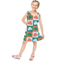 Ireland Leaf Vegetables Green Orange White Kids  Tunic Dress