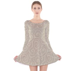 Leaf Grey Frame Long Sleeve Velvet Skater Dress by Alisyart