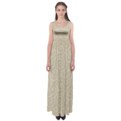 Leaf Grey Frame Empire Waist Maxi Dress