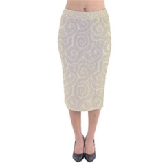 Leaf Grey Frame Velvet Midi Pencil Skirt by Alisyart