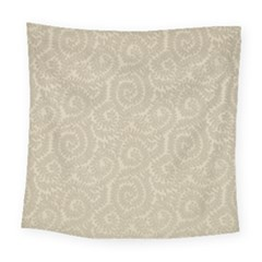 Leaf Grey Frame Square Tapestry (large) by Alisyart