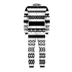 Love Heart Triangle Circle Black White Onepiece Jumpsuit (kids) by Alisyart