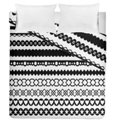 Love Heart Triangle Circle Black White Duvet Cover Double Side (queen Size)