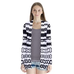 Love Heart Triangle Circle Black White Cardigans by Alisyart