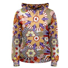 Flower Floral Sunflower Rainbow Frame Women s Pullover Hoodie