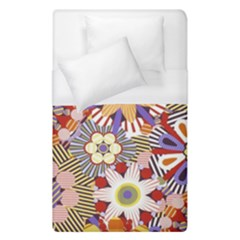 Flower Floral Sunflower Rainbow Frame Duvet Cover (single Size) by Alisyart