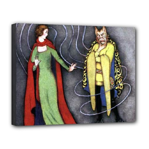 Beauty And The Beast Canvas 14  X 11  by athenastemple