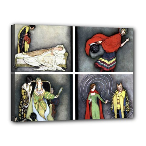 Fairy Tales Canvas 16  X 12  by athenastemple
