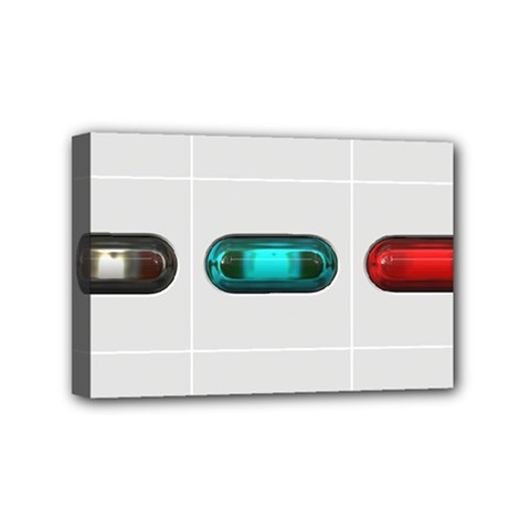 9 Power Button Mini Canvas 6  X 4  by Simbadda