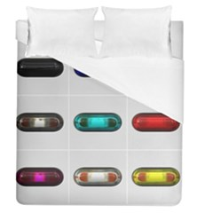 9 Power Button Duvet Cover (queen Size) by Simbadda