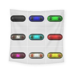 9 Power Button Square Tapestry (small) by Simbadda