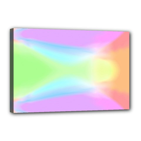 Abstract Background Colorful Canvas 18  X 12  by Simbadda