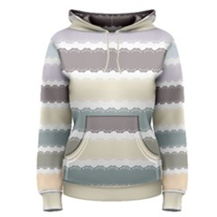 Muted Lace Ribbon Original Grey Purple Pink Wave Women s Pullover Hoodie