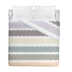 Muted Lace Ribbon Original Grey Purple Pink Wave Duvet Cover Double Side (full/ Double Size)
