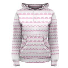 Pink Lace Borders Pink Floral Flower Love Heart Women s Pullover Hoodie