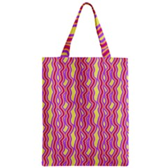 Pink Yelllow Line Light Purple Vertical Classic Tote Bag