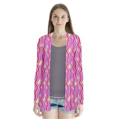 Pink Yelllow Line Light Purple Vertical Cardigans by Alisyart