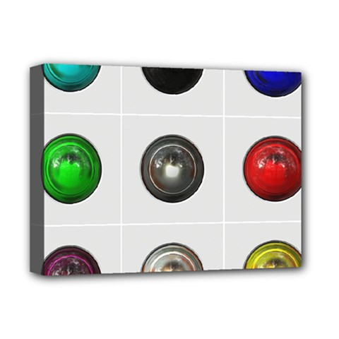 9 Power Buttons Deluxe Canvas 16  X 12   by Simbadda