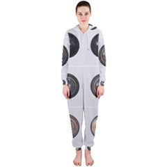 9 Power Buttons Hooded Jumpsuit (ladies)