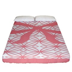 Pink Plaid Circle Fitted Sheet (queen Size)
