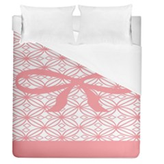 Pink Plaid Circle Duvet Cover (queen Size) by Alisyart