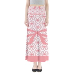 Pink Plaid Circle Maxi Skirts by Alisyart