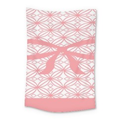 Pink Plaid Circle Small Tapestry