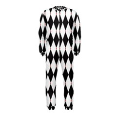 Plaid Triangle Line Wave Chevron Black White Red Beauty Argyle Onepiece Jumpsuit (kids) by Alisyart