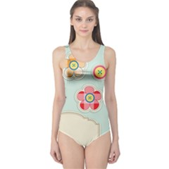 Buttons & Ladybugs Cute One Piece Swimsuit