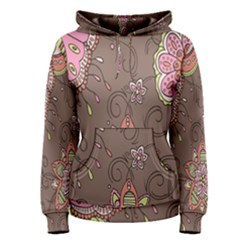 Ice Cream Flower Floral Rose Sunflower Leaf Star Brown Women s Pullover Hoodie