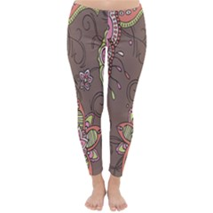 Ice Cream Flower Floral Rose Sunflower Leaf Star Brown Classic Winter Leggings