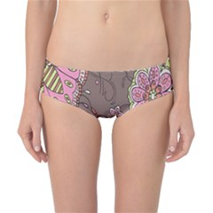 Ice Cream Flower Floral Rose Sunflower Leaf Star Brown Classic Bikini Bottoms by Alisyart