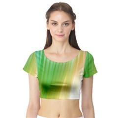 Folded Paint Texture Background Short Sleeve Crop Top (tight Fit)