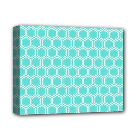 Plaid Circle Blue Wave Deluxe Canvas 14  X 11  by Alisyart