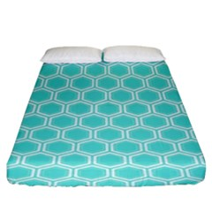 Plaid Circle Blue Wave Fitted Sheet (king Size) by Alisyart