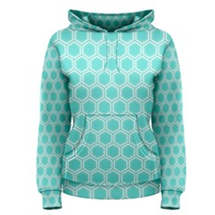 Plaid Circle Blue Wave Women s Pullover Hoodie
