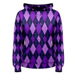 Plaid Triangle Line Wave Chevron Blue Purple Pink Beauty Argyle Women s Pullover Hoodie