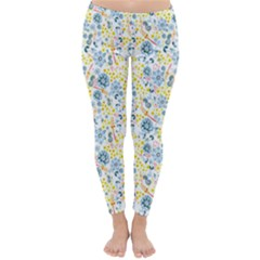 Flower Floral Bird Peacok Sunflower Star Leaf Rose Classic Winter Leggings