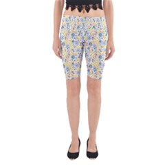 Flower Floral Bird Peacok Sunflower Star Leaf Rose Yoga Cropped Leggings