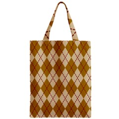 Plaid Triangle Line Wave Chevron Orange Red Grey Beauty Argyle Zipper Classic Tote Bag by Alisyart