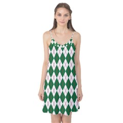 Plaid Triangle Line Wave Chevron Green Red White Beauty Argyle Camis Nightgown