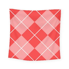 Plaid Triangle Line Wave Chevron Red White Beauty Argyle Square Tapestry (small)