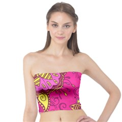 fc45a1155d3 Pink Lemonade Flower Floral Rose Sunflower Leaf Star Pink Tube Top