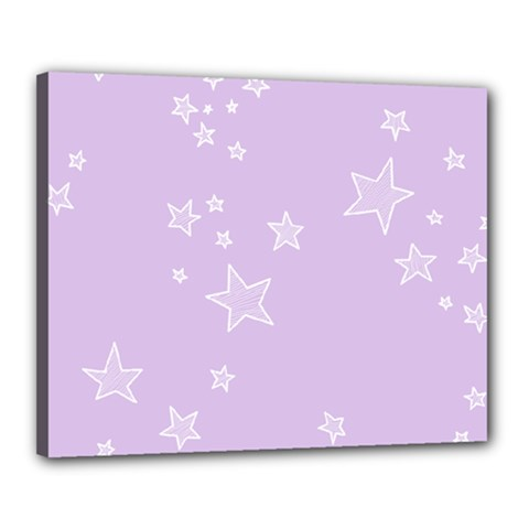 Star Lavender Purple Space Canvas 20  X 16  by Alisyart