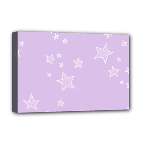 Star Lavender Purple Space Deluxe Canvas 18  X 12   by Alisyart