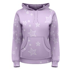Star Lavender Purple Space Women s Pullover Hoodie