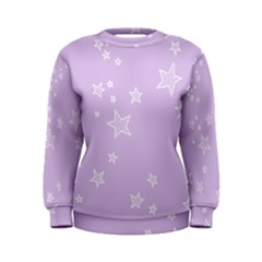 Star Lavender Purple Space Women s Sweatshirt by Alisyart
