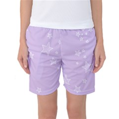 Star Lavender Purple Space Women s Basketball Shorts by Alisyart